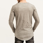 Boomer Distressed Long Sleeve // Dark Grey (S)