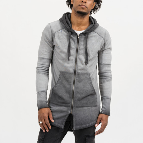 Phil Zip-Up Hoodie // Anthracite (S)