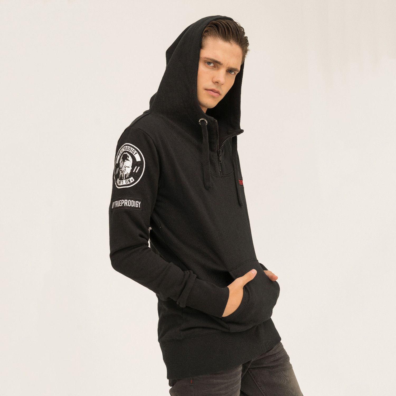 Black pull over hoodie