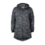 Connor Zip-Up Coat // Dark Blue (S)