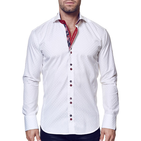Mini Panam Dress Shirt // Square White (S)