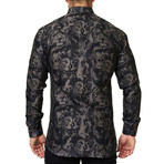 Luxor Animal Head Dress Shirt // Grey (XS)