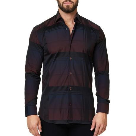 Luxor Classy Check Dress Shirt // Black (XS)