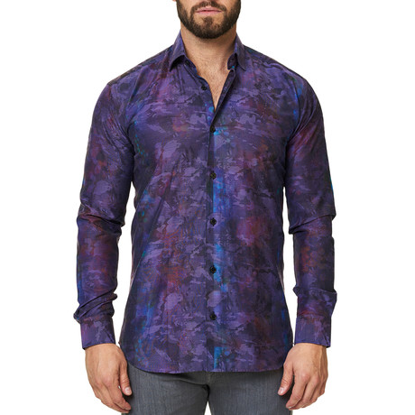 Luxor Camo Dress Shirt // Purple (XS)