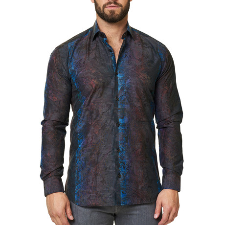 Luxor Camo Dress Shirt // Grey (XS)