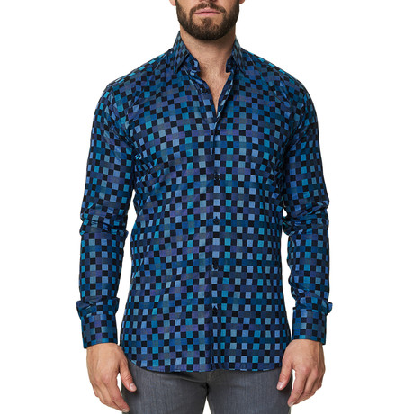 Luxor Check Dress Shirt // Turquoise (XS)