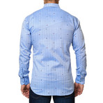 Flavour Mini Head Dot Dress Shirt // Light Blue (XS)
