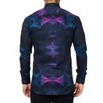 Luxor Webspread Dimensional Dress Shirt // Navy (XS)