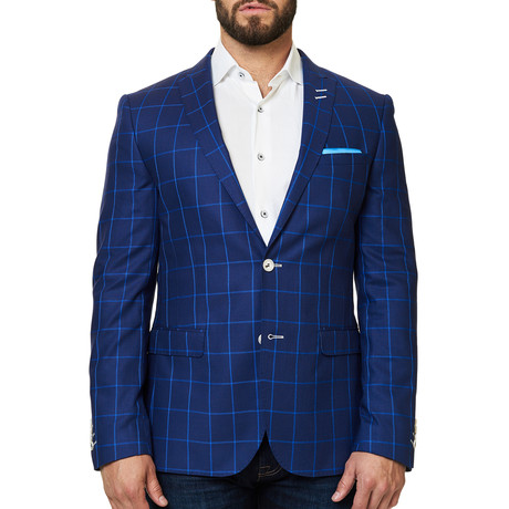Descarte Check Blazer // Blue (XS)