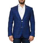 Descarte Check Blazer // Blue (XS)
