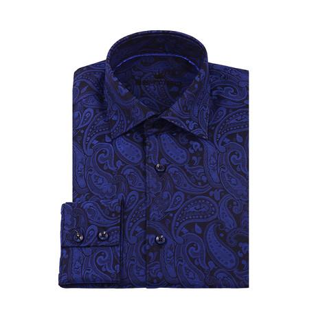 Adrian Button-Up Shirt // Navy Blue (XS)