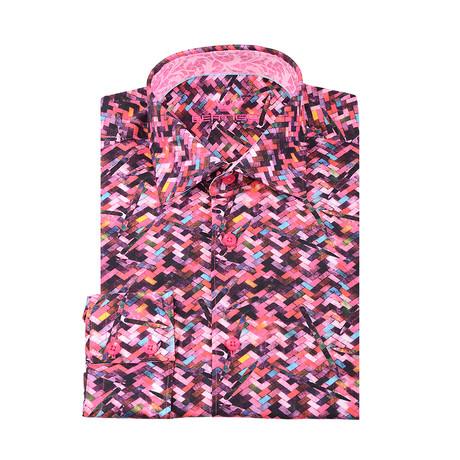 Benny Button-Up Shirt // Pink (XS)