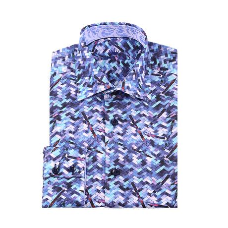 Benny Button-Up Shirt // Blue (XS)