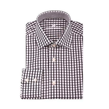 Donald Gingham Button-Up Shirt // Black + White (XS)