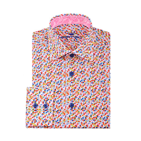 Don Abstract Squares Button-Up Shirt // Multi (XS)