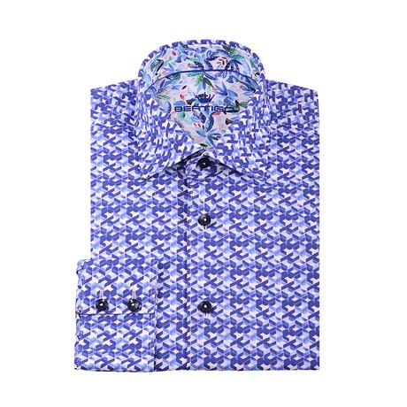 Maxim Button-Up Shirt // Blue (S)