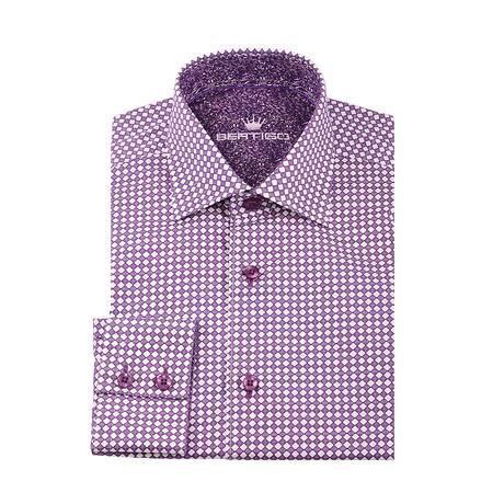 Penny Microdiamond Button-Up Shirt // Purple (XS)