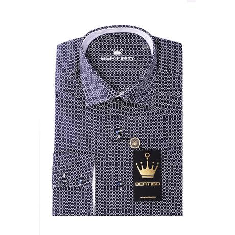 PL Button-Up Shirt // Blue Hexagon (S)