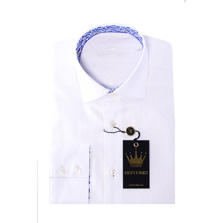 JD Button-Up Shirt // Solid White (S)