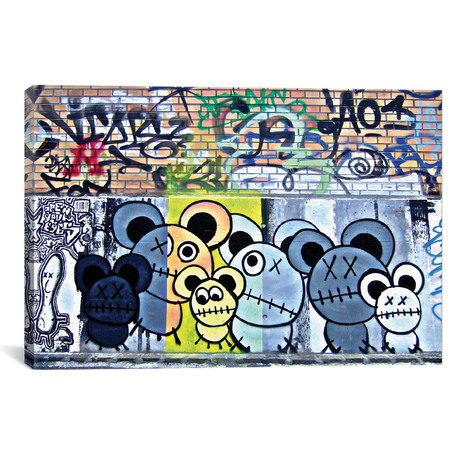 "Of Mostly Mice Graffiti // Unknown Artist (40""W x 26""H x 1.5""D)"