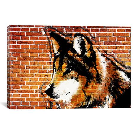 "Lone Wolf Stencil (26""W x 18""H x 0.75""D)"