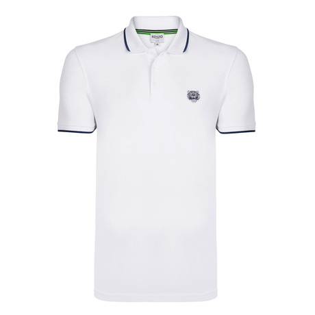 Kenzo Tiger Short Sleeve Polo // White (S)