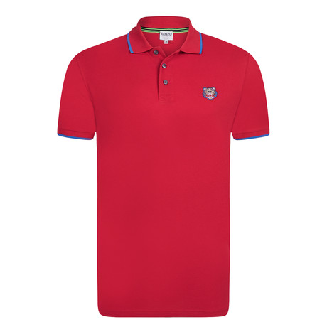 Kenzo Tiger Short Sleeve Polo // Red