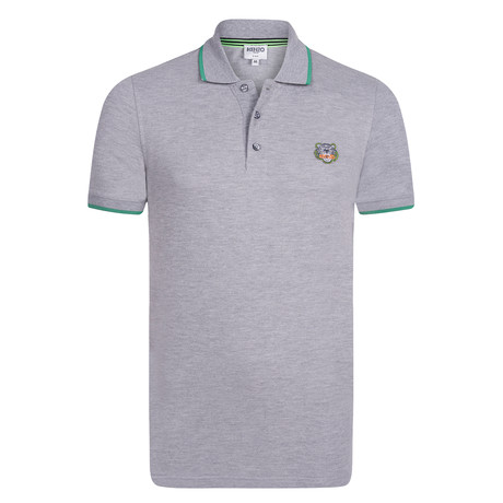 Kenzo Tiger Short Sleeve Polo // Grey (S)