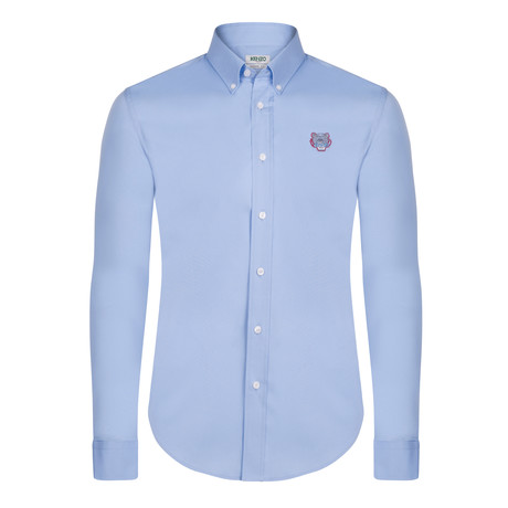 Kenzo Tiger Crest Dress Shirt // Light Blue (S)