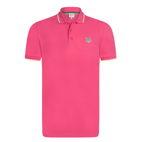 Kenzo Tiger Short Sleeve Polo // Pink (S)