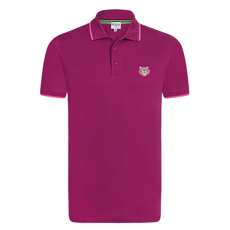 Kenzo Tiger Short Sleeve Polo // Purple (S)