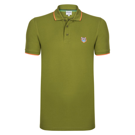 Kenzo Tiger Short Sleeve Polo // Olive Green (S)