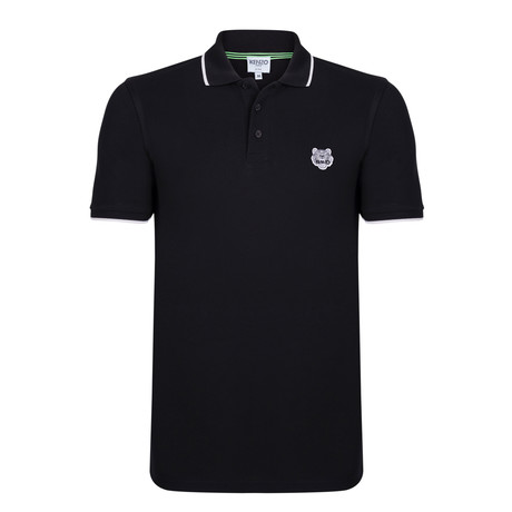 Kenzo Tiger Short Sleeve Polo // Black (S)