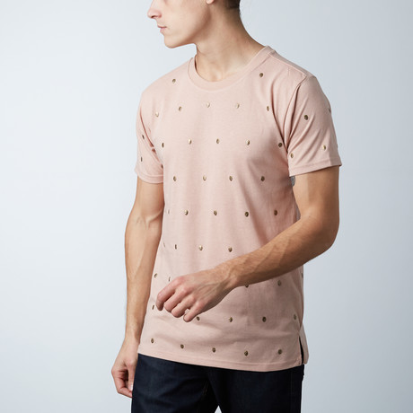 Skull Studded Tee // Dirty Pink (S)