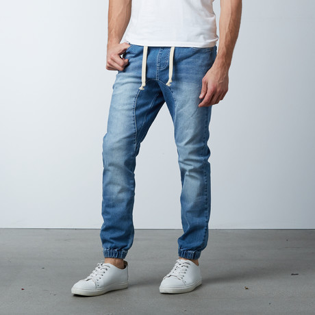 Denim Jogger Pants // Light Indigo (S)