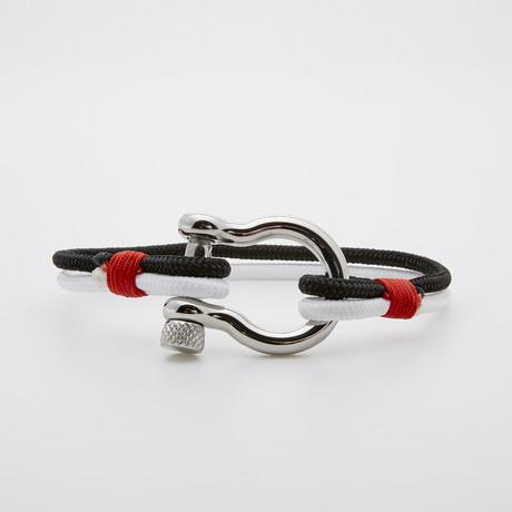 """""""D"""" Shackle Survival Paracord Bracelet // Multi"""