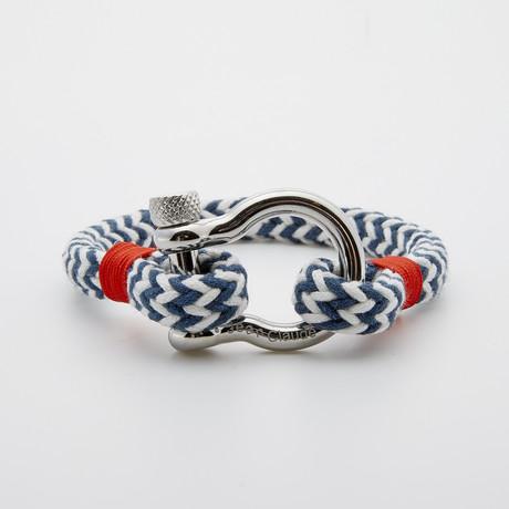 "Jean Claude Jewelry // Nautical ""D"" Clamp Rope Bracelet // Multicolor"