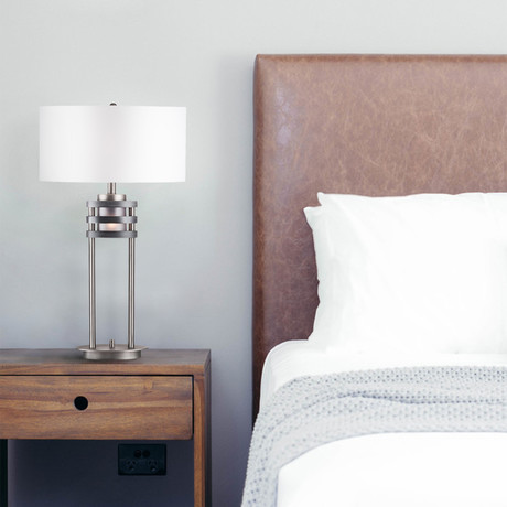 Kobe Table Lamp // Charcoal Gray