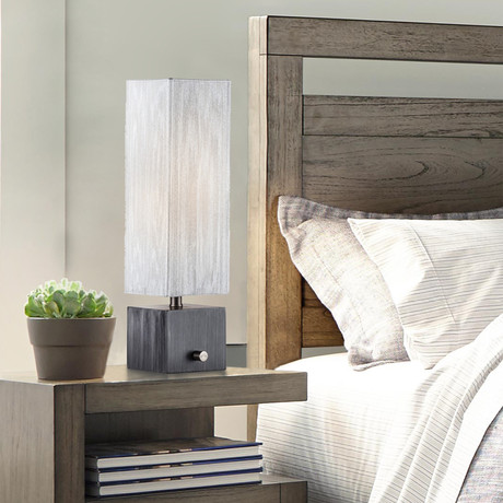 Cascade Accent Table Lamp // Charcoal Gray