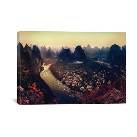 "Karst Mountains, Guangxi Zhuang, China // Clemens Geiger (26""W x 18""H x 0.75""D)"
