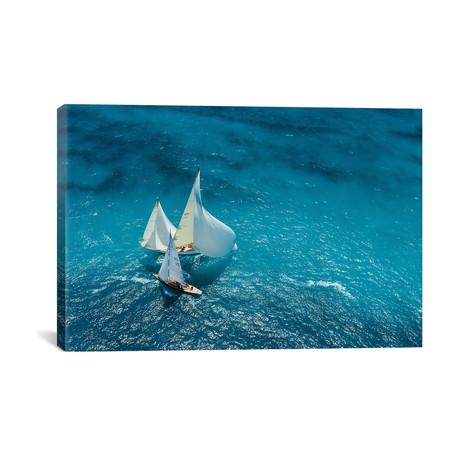 """Croisement Bleu // Marc Pelissier (26""""W x 18""""H x 0.75""""D)"""