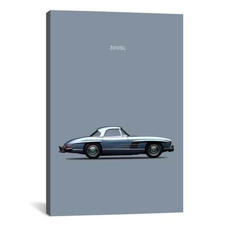 """1960 Mercedes-Benz 300 SL (26""""W x 18""""H x 0.75""""D)"""