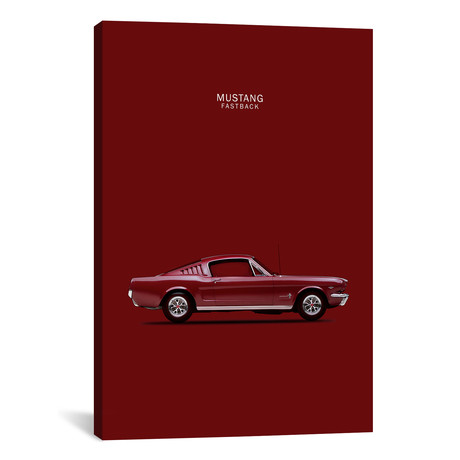 "1965 Ford Mustang Fastback // Mark Rogan (12""W x 18""H x 0.75""D)"