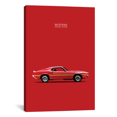 "1969 Ford Mustang Shelby GT350 (Red) // Mark Rogan (26""W x 40""H x 1.5""D)"