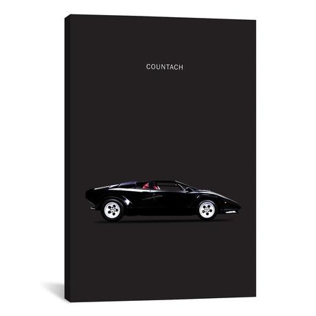 """1984 Lamborghini Countach (26""""W x 18""""H x 0.75""""D)"""