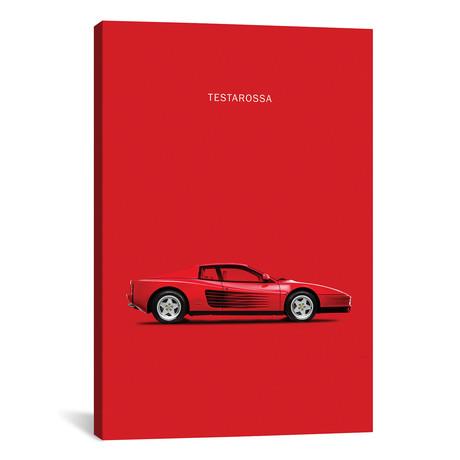 """1984 Ferrari Testarossa // Mark Rogan (12""""W x 18""""H x 0.75""""D)"""