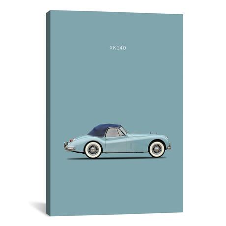 """Jaguar XK140 (26""""W x 18""""H x 0.75""""D)"""