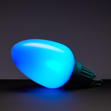 Oversized Christmas Lights // Set Of 10 // Blue