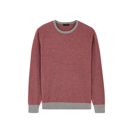 Wool Pullover Round Neck // Raspberry (S)