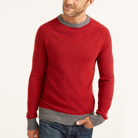 Crew Neck Pullover // Red (S)
